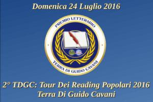2° TDGC: Tour Dei Reading Popolari 2016 Terra di Guido Cavani