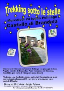 Mercoledì 24 luglio. il castello di Brandola