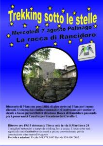 Trekking sotto le stelle, la rocca di Rancidoro